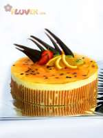 Passion Fruit and Vanilla Mousse Cake