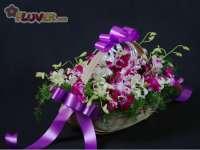 Basket of Purple Orchids