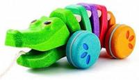Rainbow Alligator by Plan Toys
