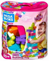 Mega Bloks Big Building Bag (Pink)